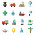 Map navigation and transportation this image is a vector illustration Stock Photos