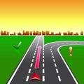 Map navigator city streets gps Royalty Free Stock Photography