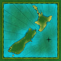 Map of New Zealand Royalty Free Stock Images