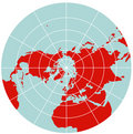 Map of Northern Hemisphere - Polar Stereographic Royalty Free Stock Photo
