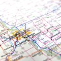 Map of Omaha Royalty Free Stock Photo