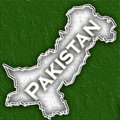 Map of Pakistan Royalty Free Stock Image
