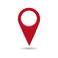 Map pin flat design style modern icon, pointer minimal vector symbol, marker sign Royalty Free Stock Photo