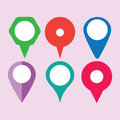 Location solid icon, map pin and website