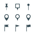 Map pin icon set Royalty Free Stock Photo