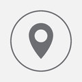 Map pointer icon. GPS location symbol. Flat design style.