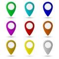 Map pointer icon. Location symbol