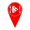 Map pointer pizza