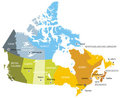 Map of provinces and territories of Canada Royalty Free Stock Photo