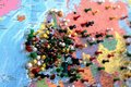 Map with pushpins Royalty Free Stock Photo