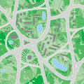 Map roads (seamless vector wal Royalty Free Stock Image