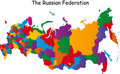 Map of Russia Stock Images