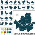 Map of Seoul with Districts