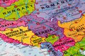 Map of Serbia Royalty Free Stock Photo