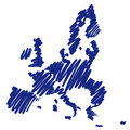 Map sketch Europe (vector) Stock Images