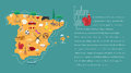 Map of Spain template vector illustration Royalty Free Stock Photo