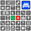 Map squared icons legend a collection of legends for Royalty Free Stock Photos