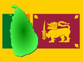 Map of Sri lanka Royalty Free Stock Image