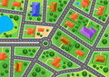 Map of suburb or little town for real estate industry design Stock Photos