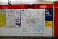 Map subway in Tokyo, Japan Royalty Free Stock Photo