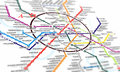 Map subway tube of moscow underground isolated on the white Royalty Free Stock Photos