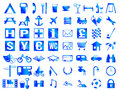 Map symbols travel and camping and icons Stock Photo