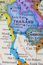 Map of Thailand Royalty Free Stock Photo