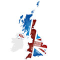 Map of the uk with country names Stock Photography