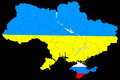 Map of ukraine without the crimea new contour Stock Photography