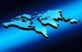 Map world Стоковые Изображения RF
