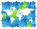 Map world Arkivbild