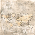 Map of the world on grunge background Royalty Free Stock Photo
