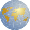 Map of the world illustration Royalty Free Stock Photo