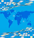 Map of the world surrounding the volumetric plates vector surround for your ideas eps Stock Image