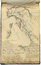 Mapa original do vintage de Italy Foto de Stock Royalty Free