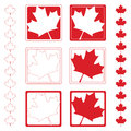 Maple Leaf Icons Stock Photos