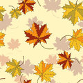 Maple leaf silhouette seamless pattern Royalty Free Stock Photo