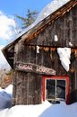 Maple Sugar house in winter Royalty Free Stock Photo
