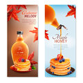 Maple Syrup Vertical Banners Set Royalty Free Stock Photo