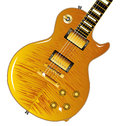 Maple top guitar the definitive rock and roll with a tiger isolated over a white background Royalty Free Stock Images