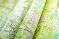 Maps Royalty Free Stock Photo
