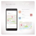 Maps app on smartphone
