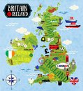 Maps of Britain and Ireland Royalty Free Stock Photo