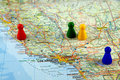 Maps of California Royalty Free Stock Photo