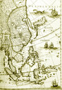 Maps of southeast asia countries, old antique Royalty Free Stock Photo
