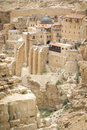 Mar sabas monastery the ancient of in the israeli judean desert is about years old Stock Photography