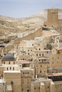 Mar sabas monastery the ancient of in the israeli judean desert is about years old Stock Images