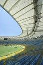 Maracana Football Stadium Seats and Pitch Royalty Free Stock Photo