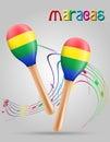 Maracas musical instruments stock vector illustration