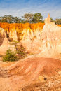 Marafa canyon kenya wonderful orange colors at sunset in also said the hell s kitchen malindi region Royalty Free Stock Photo